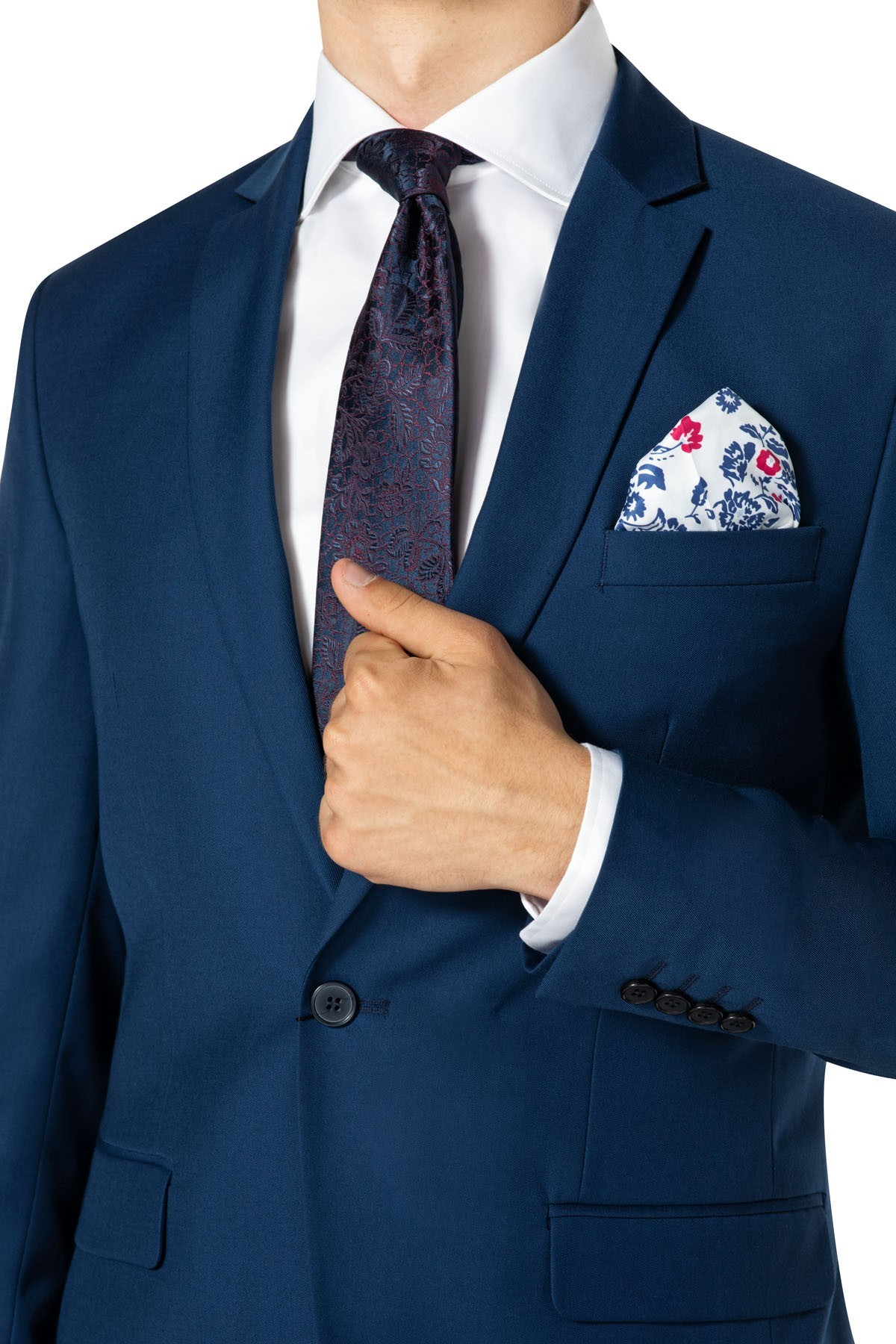 niebieskie garnitury męskie