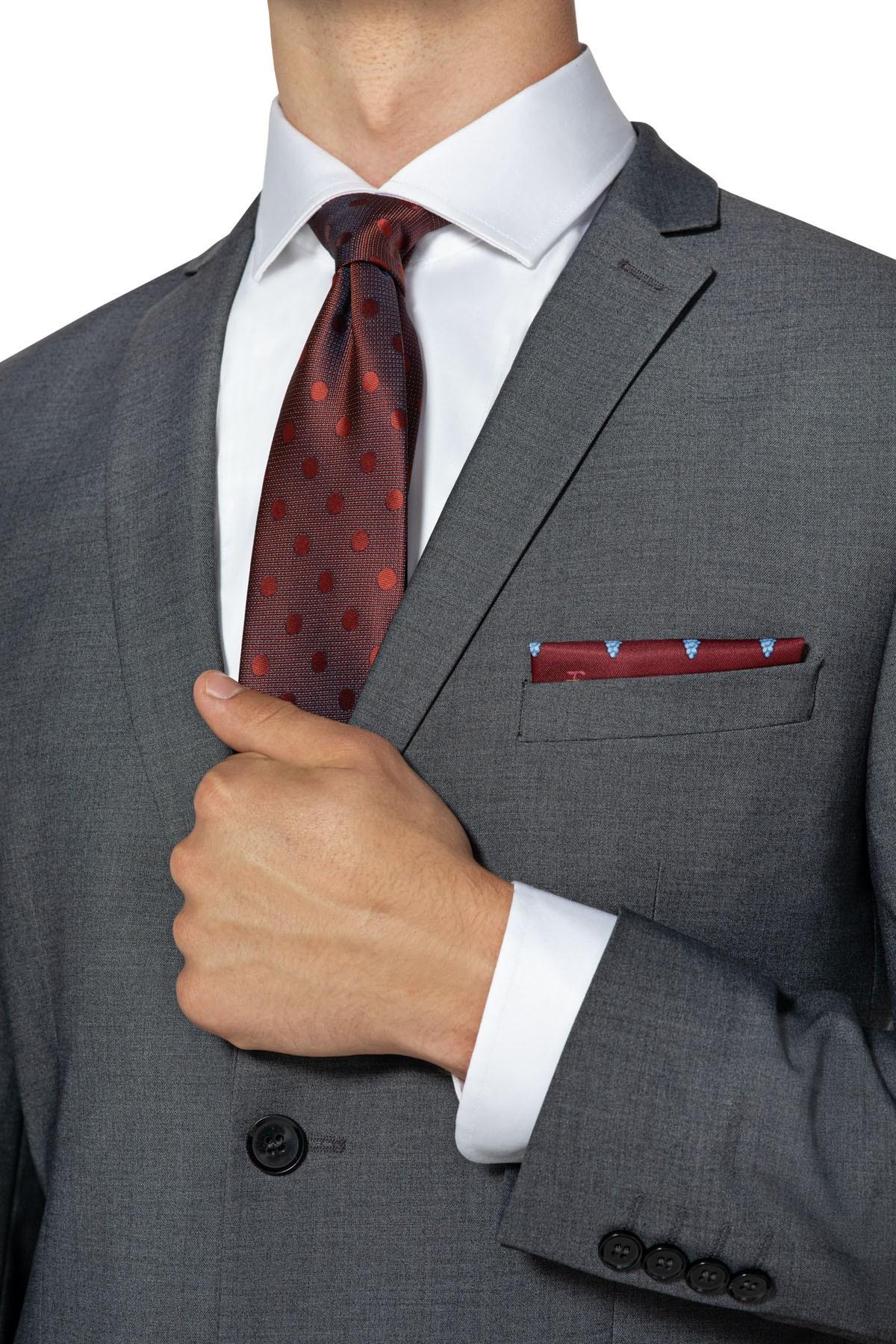 szare garnitury męskie